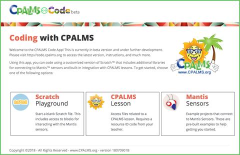 CPALMS Code app