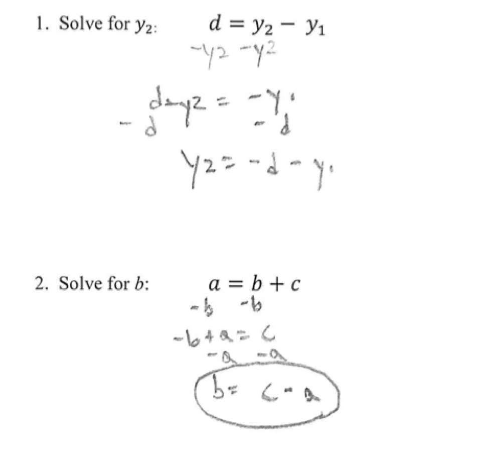 Solving Literal Equations Students are given three literal Throughout Literal Equations Worksheet Answer Key